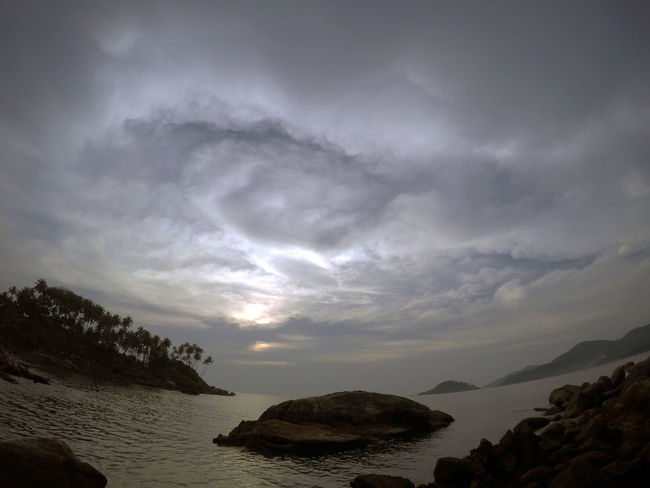 Atmospheric Mood Beach Beach Photography Cloud - Sky Cloudscape Composition Dramatic Sky Dusk Fisheye Life Is A Beach Majestic Moody Sky Physical Geography Scenics Sky Spreadthelust Wanderlust Water_collection Waterlust Waves, Ocean, Nature Showcase: December Protecting Where We Play