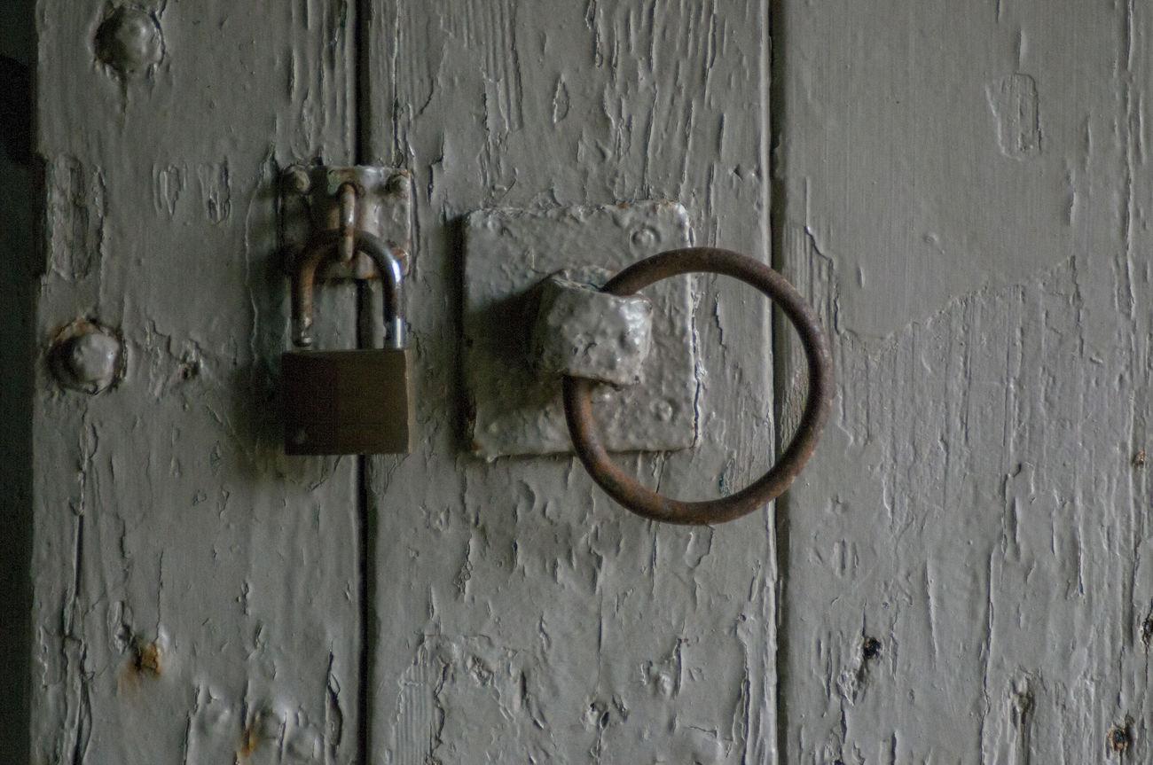 Stable Door Backgrounds Close-up Decay Decaying Door Door Handle Door Knob Grey Lock Lock And Hasp Loop Metal Old-fashioned Padlock Panel Peeling Paintwork Riding Security Stables Text Wood - Material Wooden Door