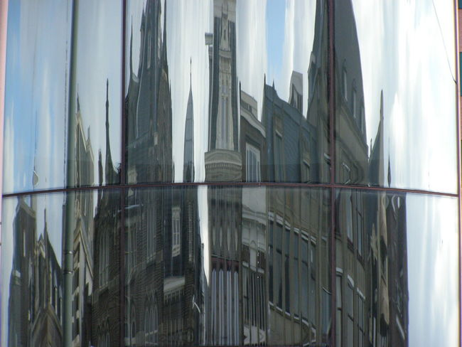 Architecture Building Exterior Built Structure Deterioration Distorted Reality Glass - Material Glassreflections Mirror Window