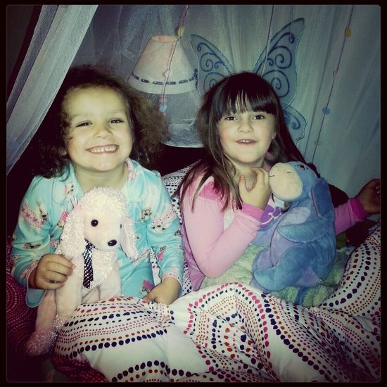 "Playdate turns into Sleepover...""Best day ever!"" declares Alaina. :)"