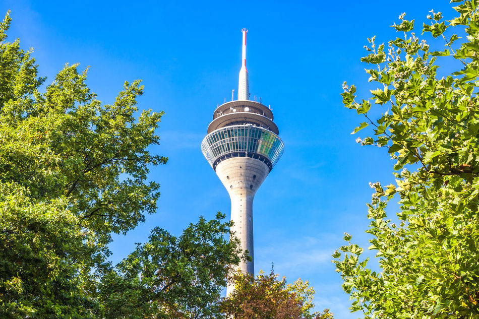 Iconic tv tower in Dusseldorf, Germany Bleu Sky Düsseldorf Düsseldorf ♡ Germany GERMANY🇩🇪DEUTSCHERLAND@ International Landmark Landmark Low Angle View North Rhine Westfalia North Rhine-westphalia Northrhinewestphalia Television Tower Tower TV Tower