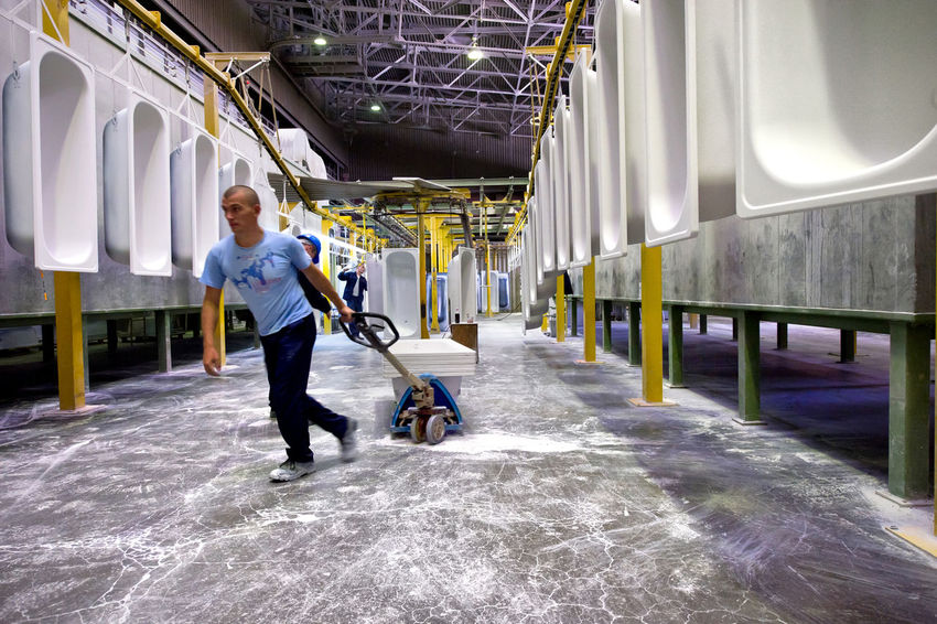 Russia, Yekaterinburg, Upper Iset plant, painting line baths Casual Clothing Day Full Length Leisure Activity Lifestyles Painting Line Baths Russia россия Russia, Yekaterinburg, Upper Iset Plant, Painting Line Baths The Way Forward Upper Iset Plant Yekaterinburg