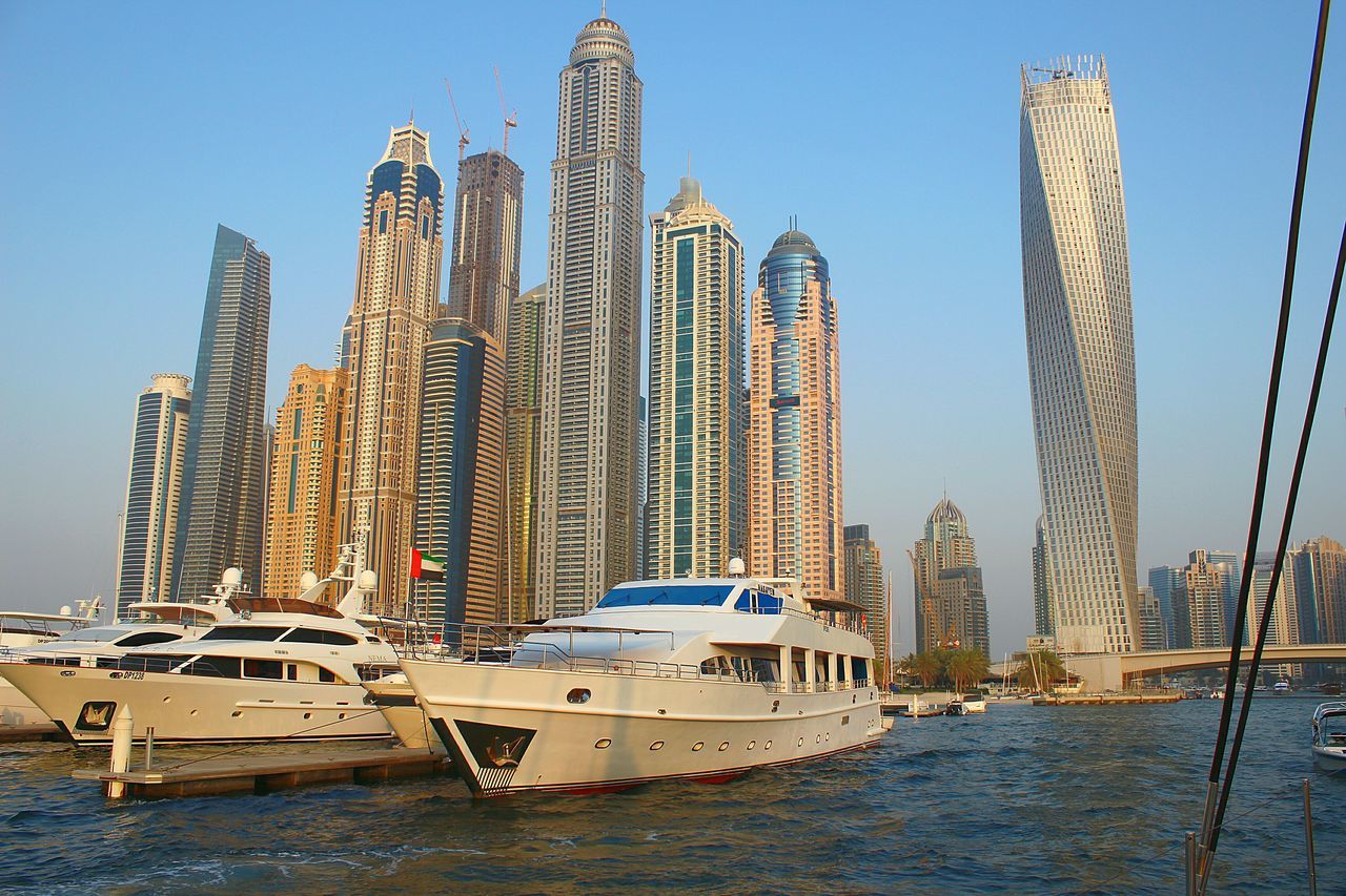 Tall Dubai. Dubai Dubai, UAE Skyscraper Dubai Marina Yachts Yachts At Port Luxury Summer 2013 New Dubai United Arab Emirates