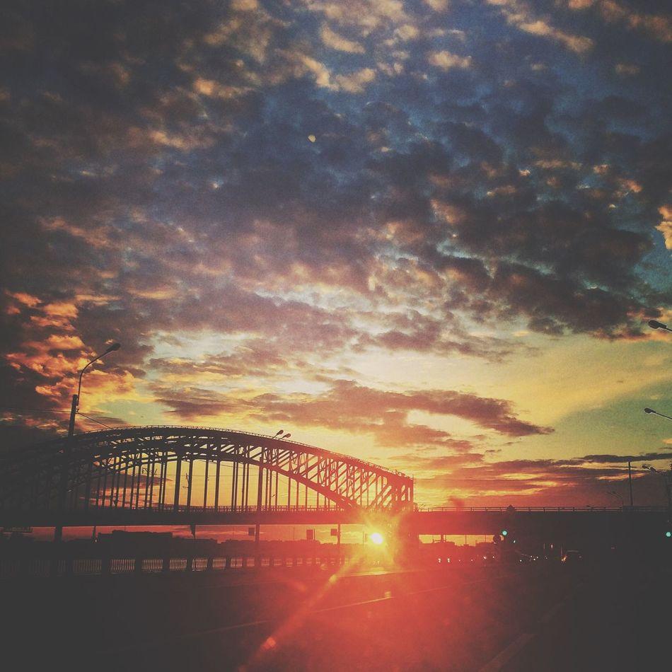 Bridge Sunset View Spb