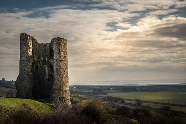 Hadleigh Castle, built in the 13th century.. A ruin today; but once a mighty stronghold Building Exterior Built Structure Castle Cloud Cloud - Sky Cloudy Essex EyeEm Best Shots Famous Place Hadleigh History Moody Sky Norman Castle Outdoors Ruin Ruined Showcase: February Silhouette Sky Tourism Voyage
