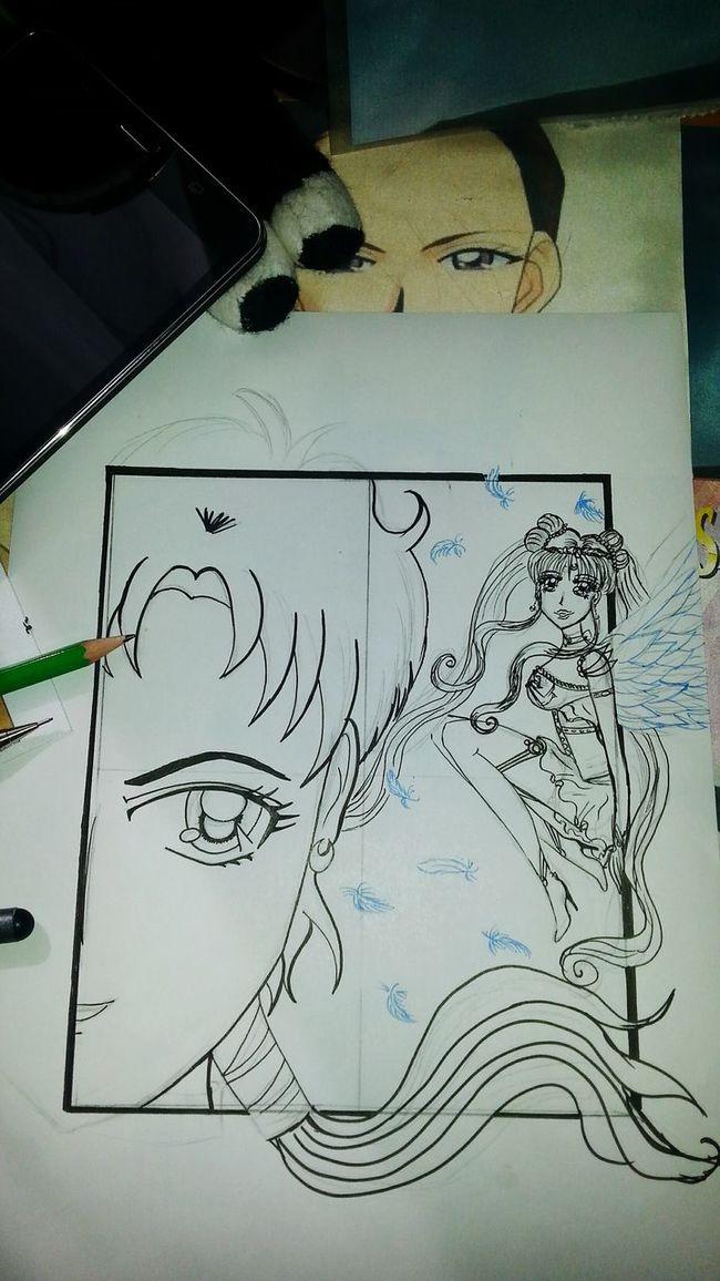 Selfmade Artwork Seiya Kou Anime Manga Sailor Moon Skizze