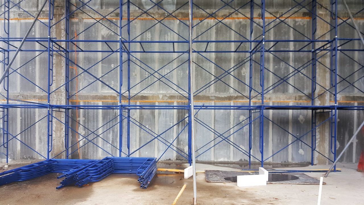 Day No People Outdoors Backgrounds Architecture Construction Construction Site Construction Work Wall Scaffolding Scaffoldings Structure Engineering Work In Progress Underconstruction  Architectures Unfinished Building Pattern Grid Grid Pattern