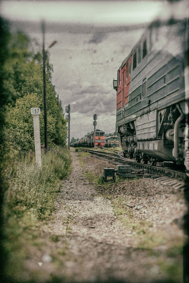 The path along the railway station. Train. Maksatikha. Building Exterior Built Structure Land Vehicle Maksatiha Maksatikha Mode Of Transport No People Outdoors Railroad Railroad Station Russia Train Transportation Vintage