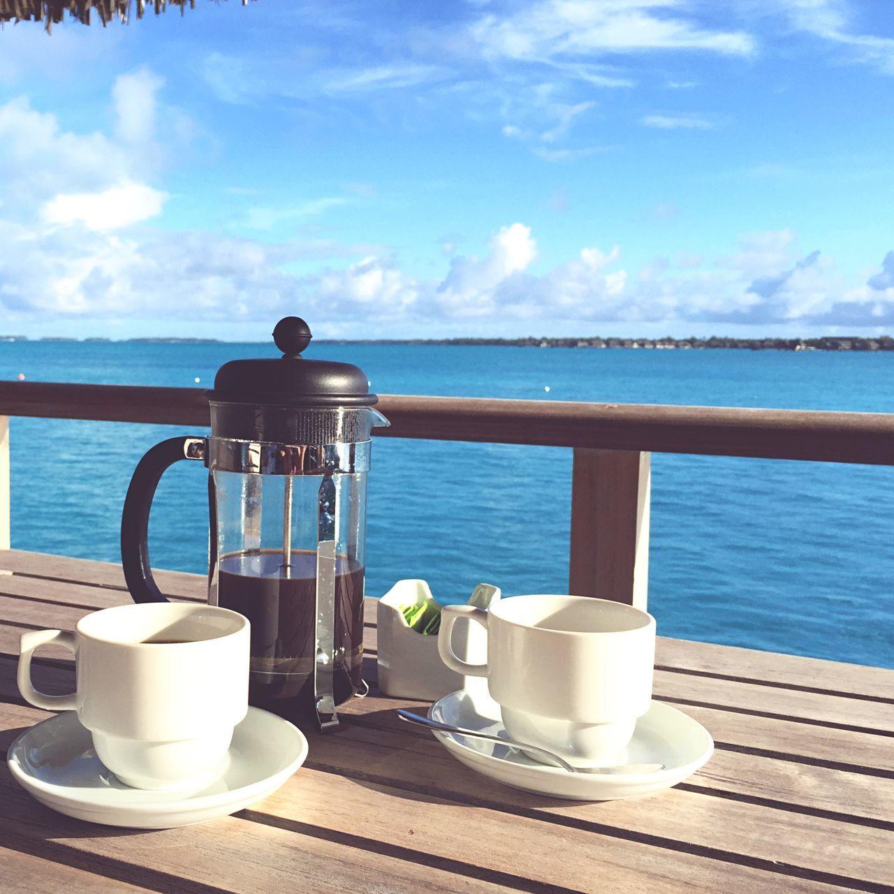 The Foodie - 2015 EyeEm Awards Coffee Paradise Bora Bora  enjoying morning coffee