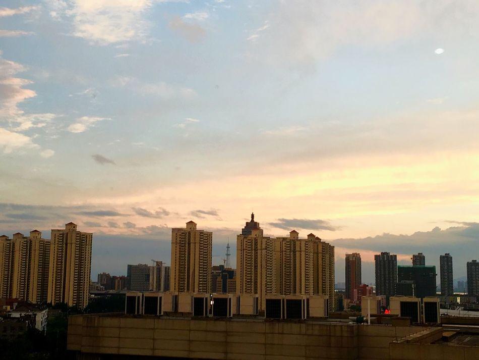 Sunset Colors City