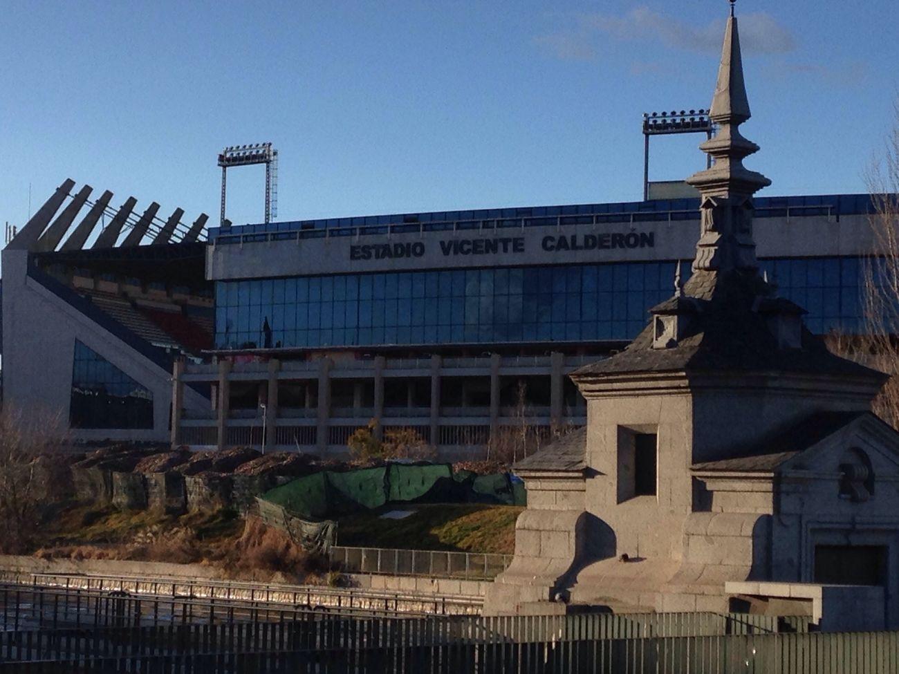 Vicente Calderon Atleticomadrid Stadium in spring sunshine Feb 21, 2015