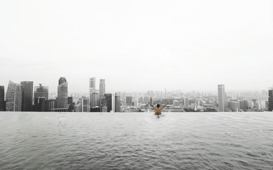 Traveling Home For The Holidays 3XSPUnity Singapore Singapore Marina Bay Sands Infinity Pool Traveling Home For The Holidays