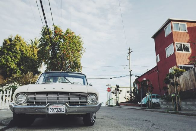 Could be a street scene from the 60's // San Francisco Cars & Trucks Bernalwood Ford VW Beetle Ford Ranchero