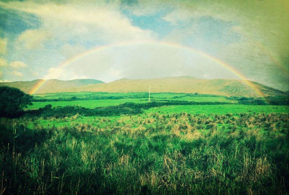 Colors Of Autumn Ireland Kerry Ireland, Dingle Bay Rainbow