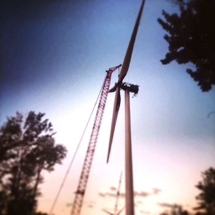 Wind Turbine Construction Nature Outdoors Built Structure Construction Site Occupation Pensilvania Burnt Wind Turbine