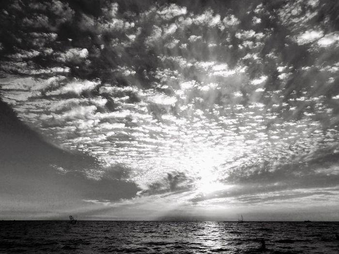 Sea Horizon Over Water Water Sky Cloud - Sky Outdoors Day Cloudy Day Black And White Black Sea♥ Horizon EyeEmNewHere