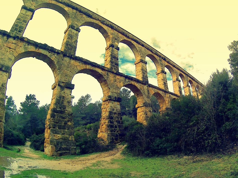 Arch Architecture Built Structure Day History No People Outdoors Sky The So-called Aqueduct Of Les Ferreres, Sometimes Also Called Puente Del Diablo, Is A Roman Arcade That Forms Part Of The Aqueduct That Supplied Water From The Francolí River To The City Of Tarraco,