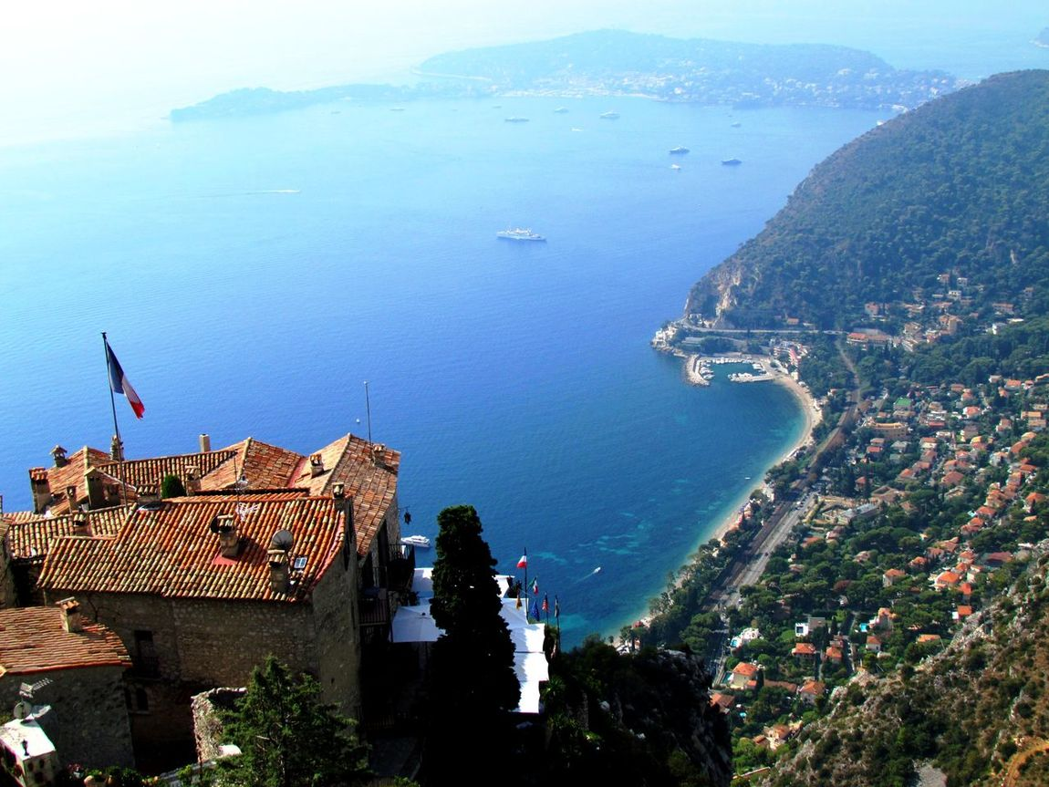 View from the exotic garden in Eze, Azure Coast Coastline Côte D'Azur Eze, France Mediterranean  Beauty In Nature Day Different Place Exotic Garden Outdoors Sea Shore Line Sky Water