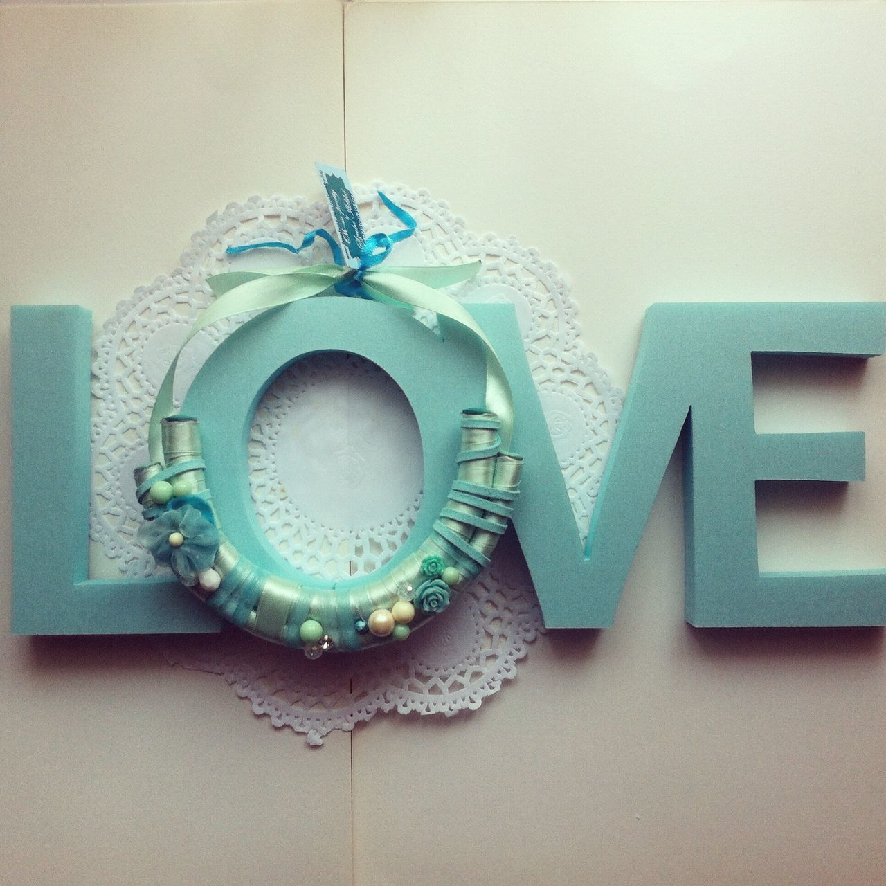 Handmade Necklace Statement Necklace Mint Green Details Tribal Inspired Love Cut Out Letters Letters My Unique Style