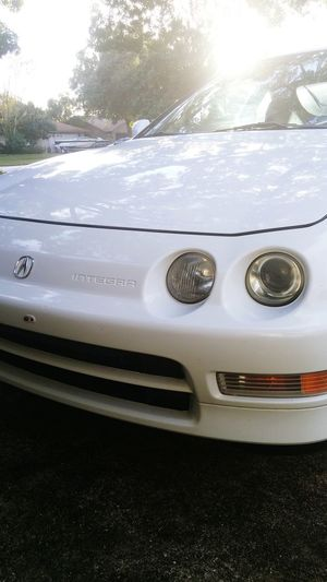 Acura Integra 1993 Acura 1993 Acuraintegra Vintage Cars Vintage Low Angle View Natural Beauty Natural Light Car Cars Carporn Car Porn Clean Not Slammed White First Eyeem Photo