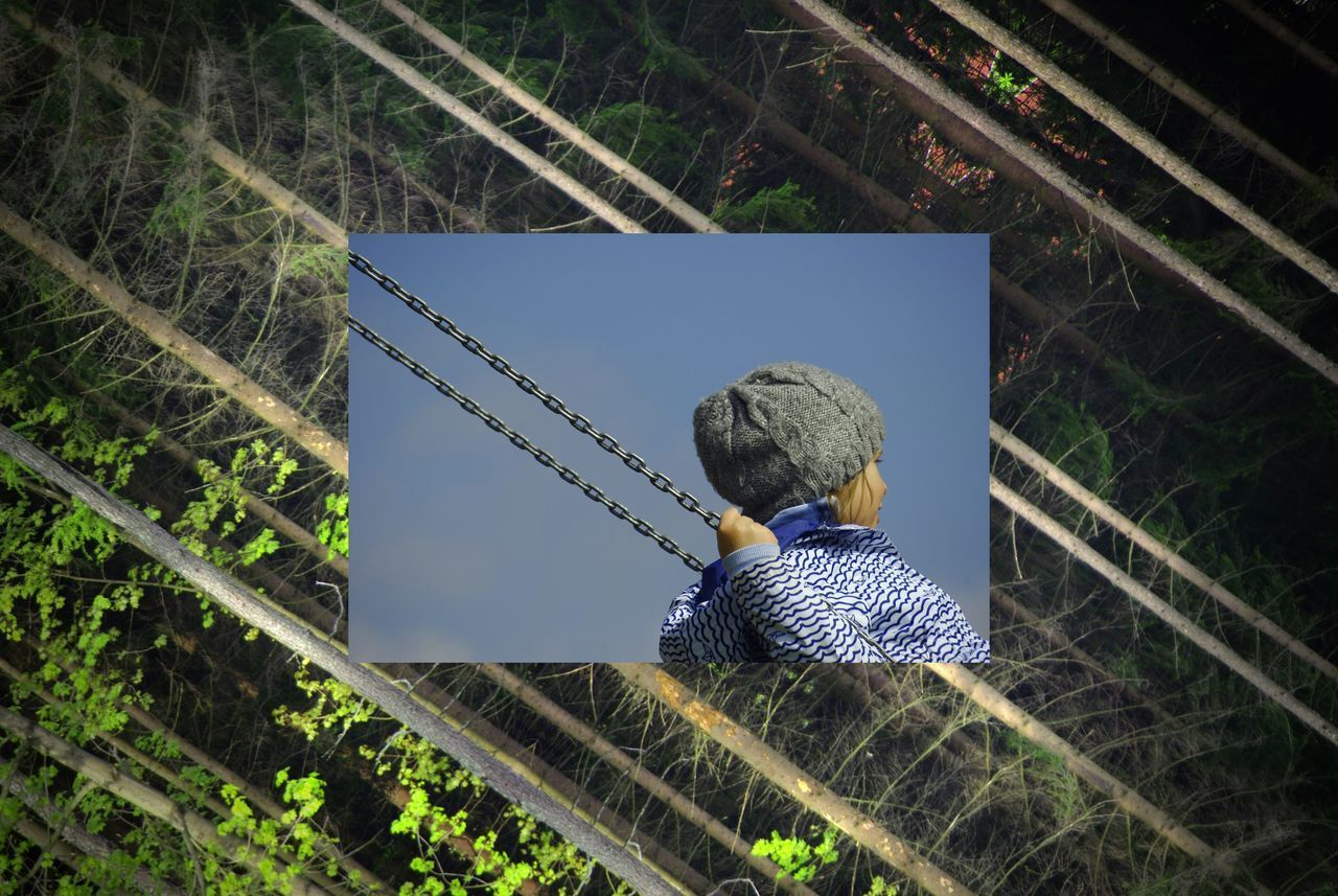 Collage Collage Photography Diagonal Lines Forest Kids And Nature Mirror Effect Natural Pattern Nature_collection Parallel Lines Pattern Pieces Pattern, Texture, Shape And Form Seesaw The Great Outdoors - 2017 EyeEm Awards Place Of Heart