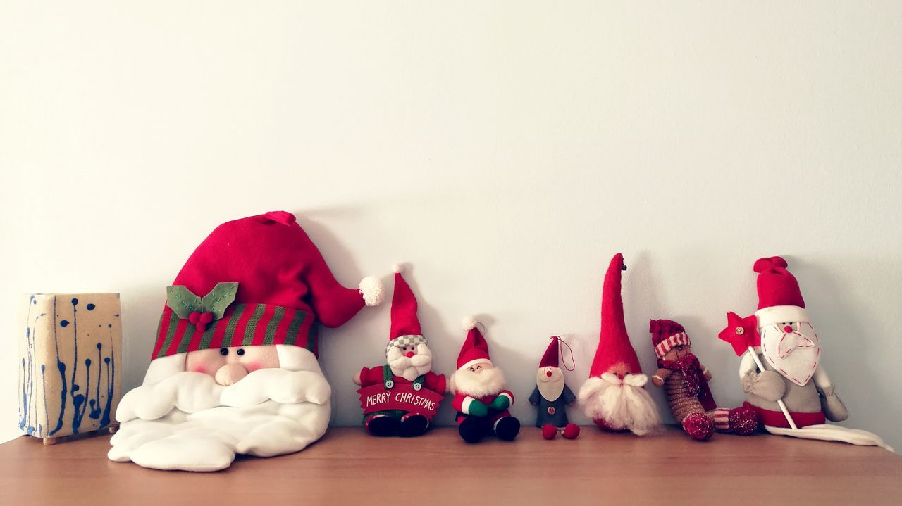 See you next year Santas On the Shelves! Stuffed Toy Hand Made Santa Claus Collections shelf Christmas Spirit Christmas Winter