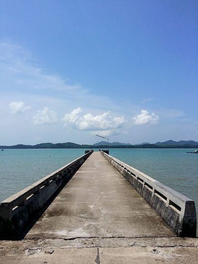 Blue Sky Sea Outdoors No People Pier Phuket Thailand