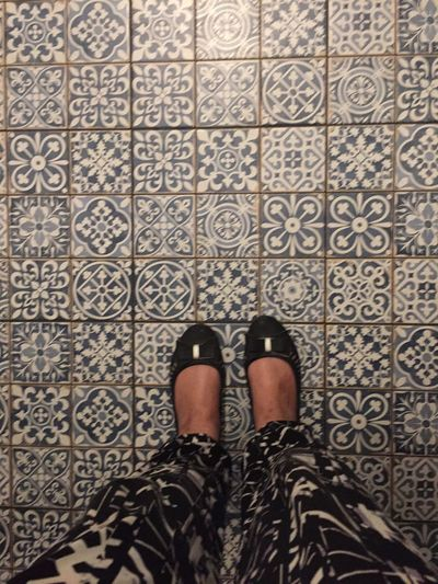 Feet And Shoes Feet On The Ground Feetselfie Floor Tiles Blue TilesoAsymmetryrIphonographyhIndoors sDecoroInterioroShowcase Aprilil