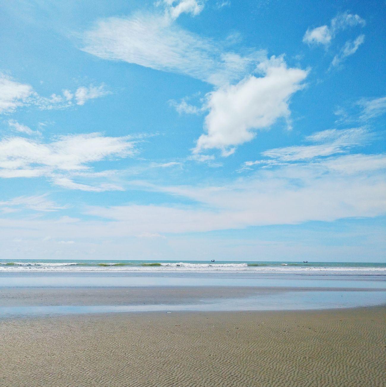 Beach Sand Sea Blue Sky Vacations