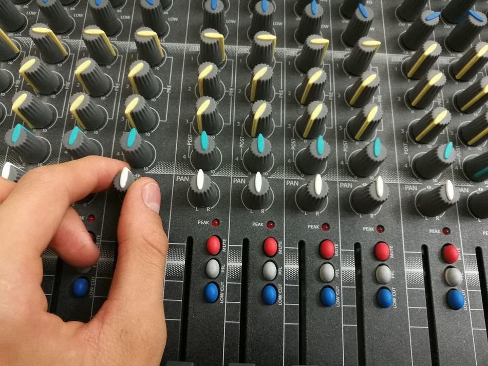 Console Dj Equalizer Equipment Human Hand Mixed Mixer Mixing Console Music Sound Volume TakeoverMusic