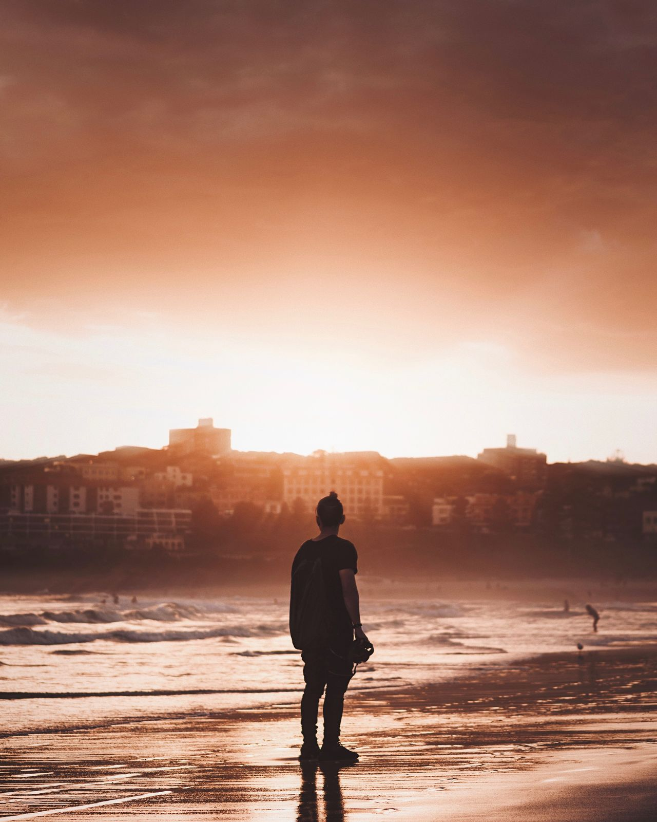 One Person Rear View Sky Sunset Real People Men Standing Built Structure Architecture Silhouette Building Exterior City Full Length One Man Only Outdoors Water Nature Day Only Men Adult Traveling Home For The Holidays