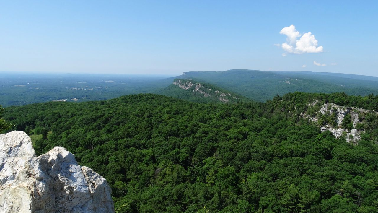 Our world is not all destroyed. Nature Beauty In Nature Tranquility Scenics Day Landscape Tranquil Scene Green Color Sky High Angle View No People Outdoors Mountain Growth Tree Mohonk Preserve