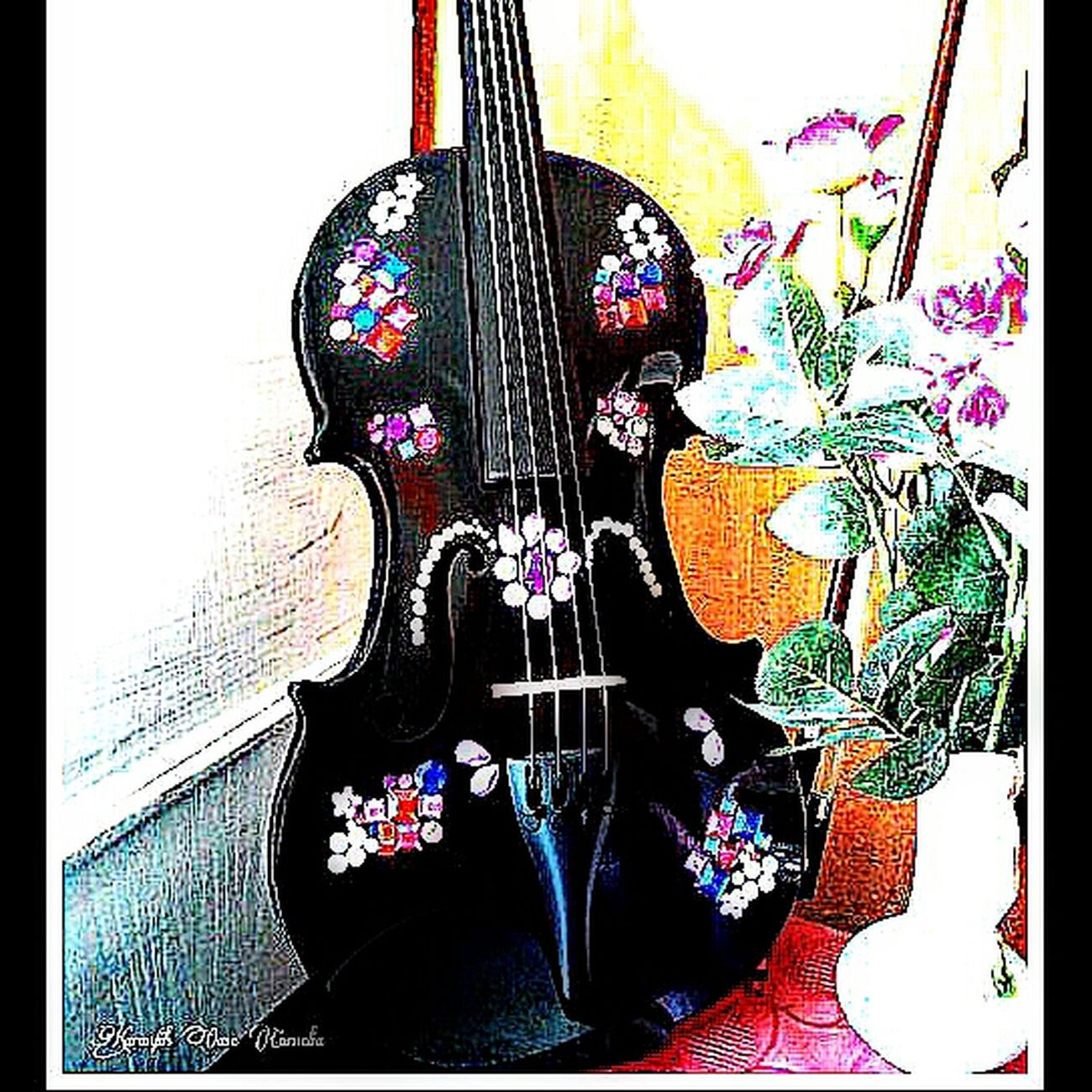 Musik For My Life! I love my Violine  Music Instrument