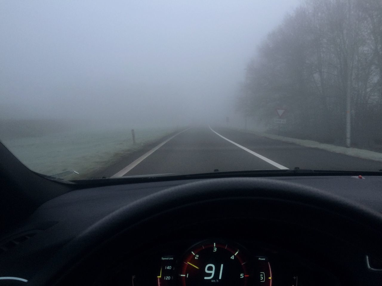 Early Morning Misty Morning Volvo Outdoors Hello World Check This Out Where Are You Going?