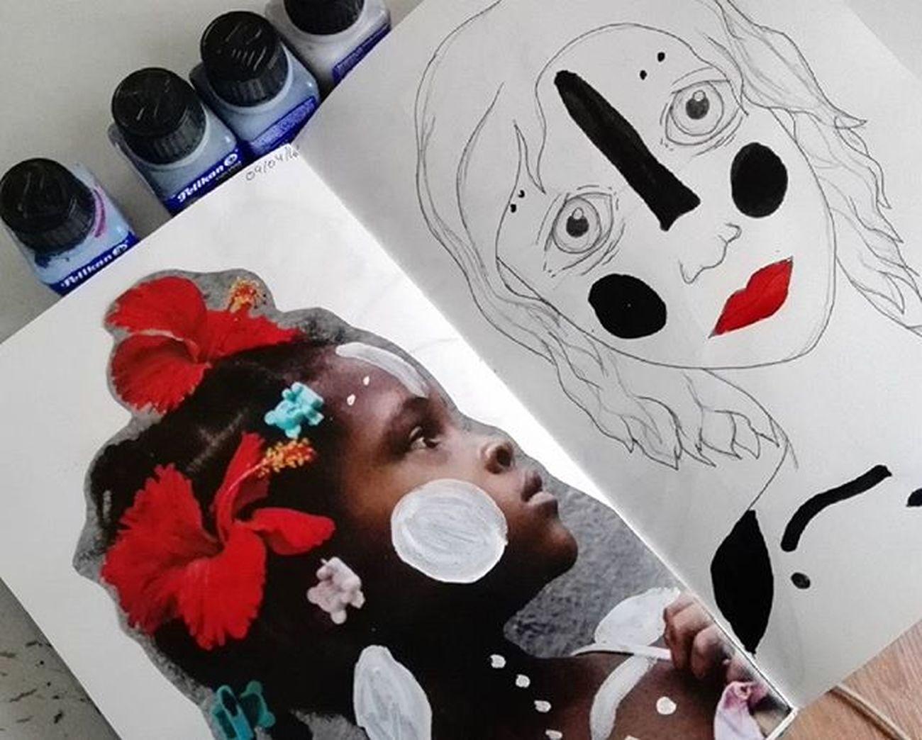 Mezclando culturas Art Sketchbook Sketchaday Colombianart Colombia Drawing Afroculture Portrait Draw