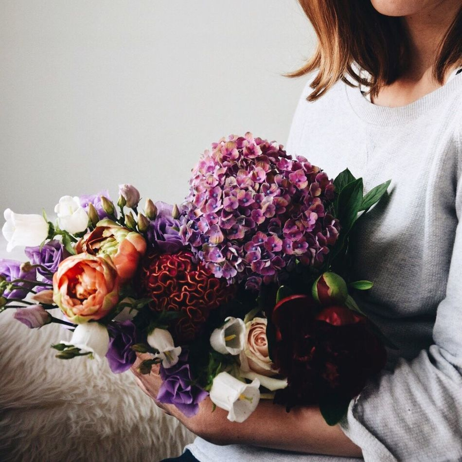 Beautiful stock photos of fall, flower, bouquet, women, sitting