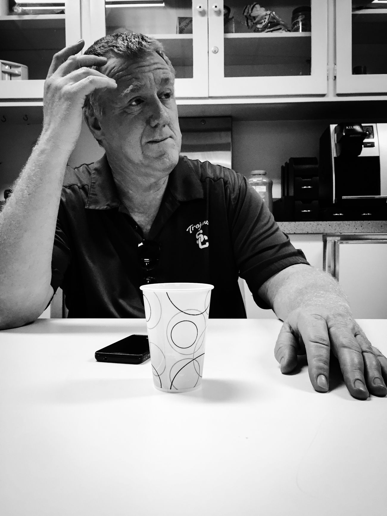 """Co-worker """"Jeff"""" the cable guy. USC  Imthe1will Blackandwhite Blackandwhite Photography IPhoneography People"""