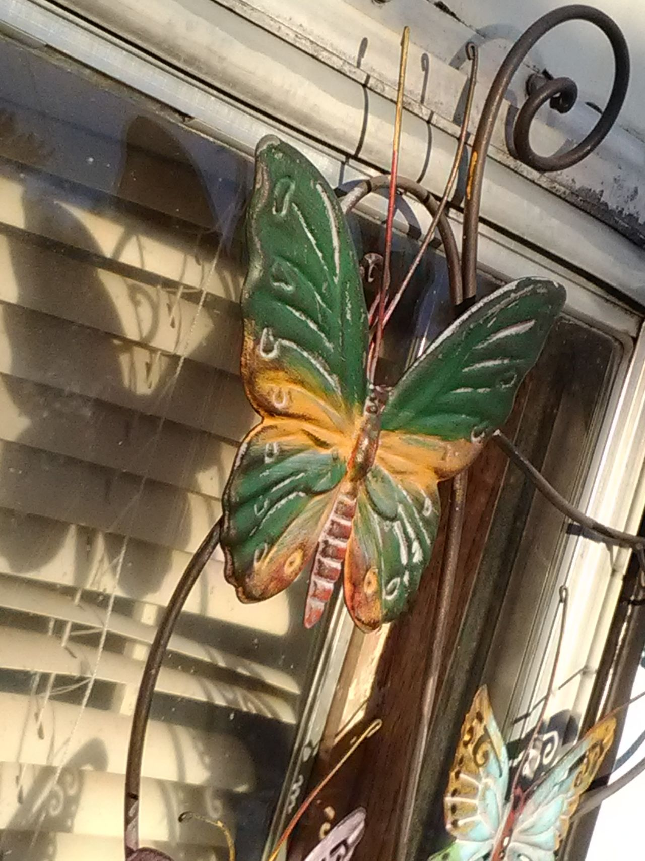 Reflecting butterflies No People Close-up Butterfly Art Metal Industry Metal Butterflies Iron Butterfly