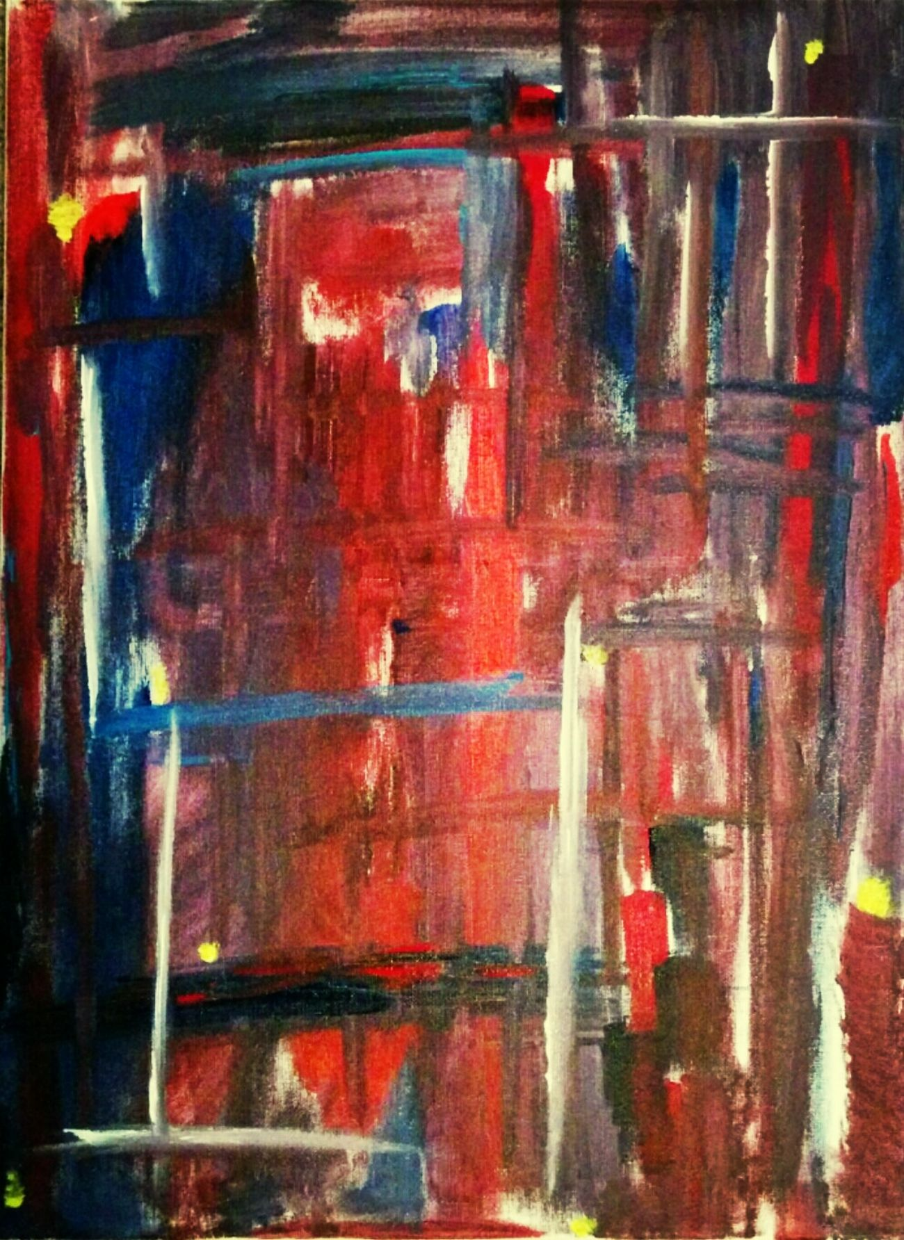 Color Original Art Abstract Acrylics