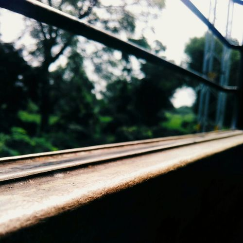 Window Transportation Focus On Foreground No People Day Railroad Track City Life