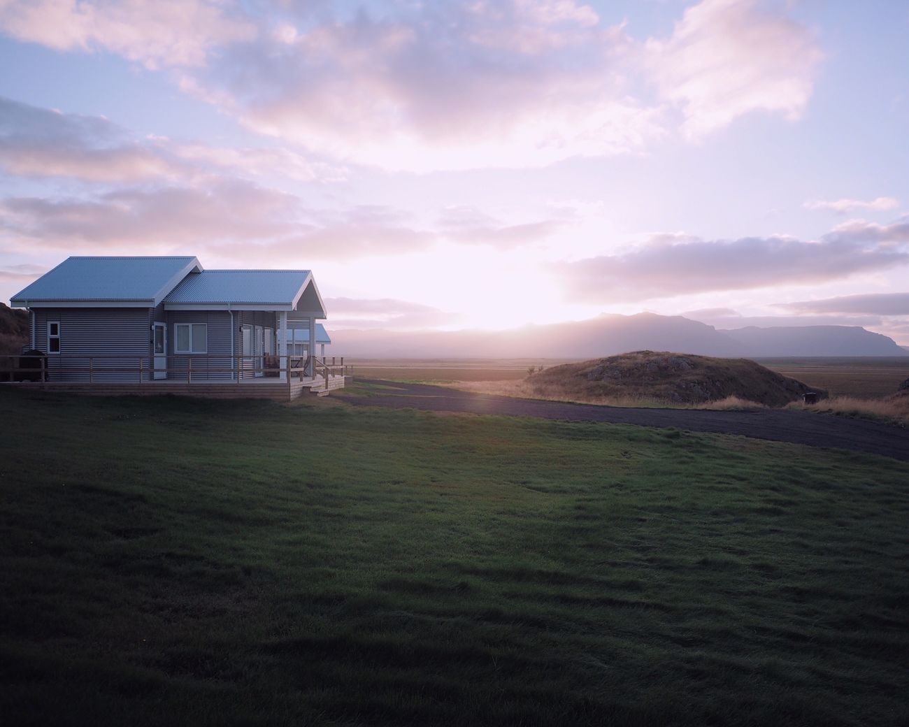 Sky Beauty In Nature Built Structure Tranquility Nature Landscape Architecture Tranquil Scene Cloud - Sky Building Exterior Outdoors Scenics Sunrise in Iceland