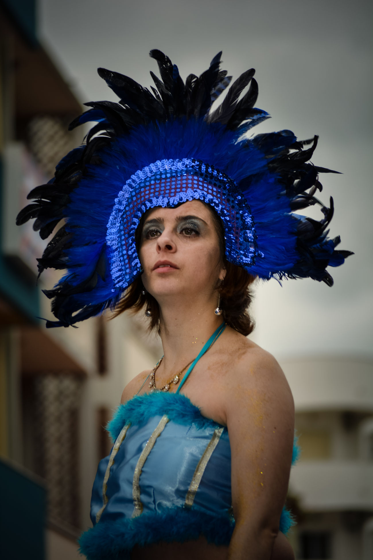 Carnival's parade 2017 Adult Adults Only Artist Arts Culture And Entertainment Beautiful Woman Beauty Blue Dancer Dancing Feather  Glamour Headdress Headwear Mid Adult One Person One Woman Only Only Women Outdoors People Performance Performance Group Portrait Royalty Sequin Traditional Clothing