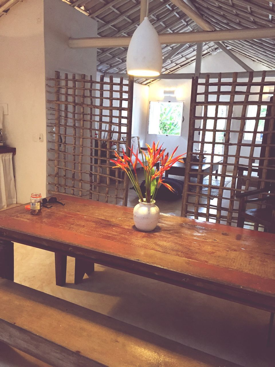 indoors, flower, table, vase, wood - material, no people, day, beauty in nature, nature