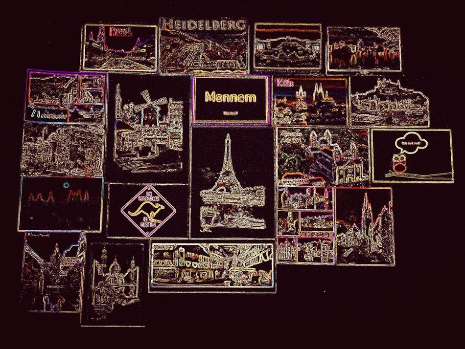 Heidelberg Paris Monnem Austria Eiffel_tower  Moulin Rouge Neon Lights