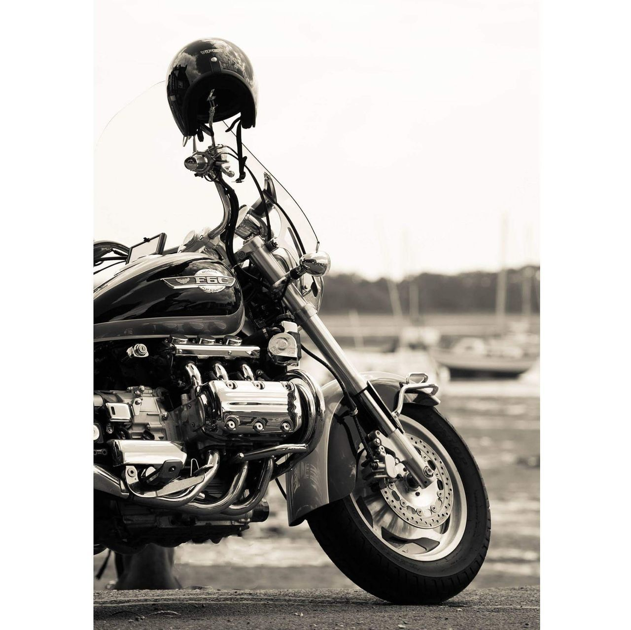 Black And White Photography Chichester Harbour Honda Motorcycle