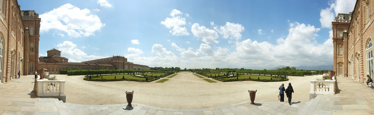 The Great Outdoors With Adobe Venaria Venariareale Garden Garden Architecture Skyscape Panoramic Open Air Castle Italy Simmetry Dramatic Sky First Eyeem Photo