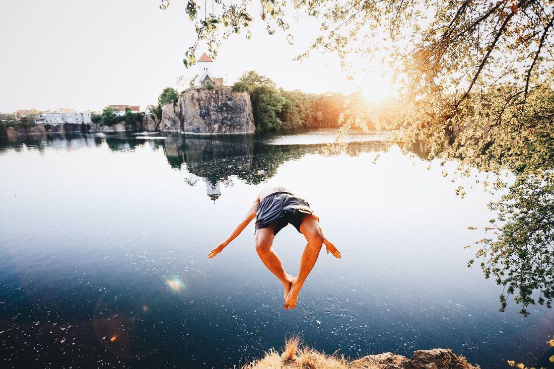 Summer Jump Steinbruch VSCO Landscape EyeEm Best Shots Nature Leipzig The Moment - 2015 EyeEm Awards Capturing Freedom