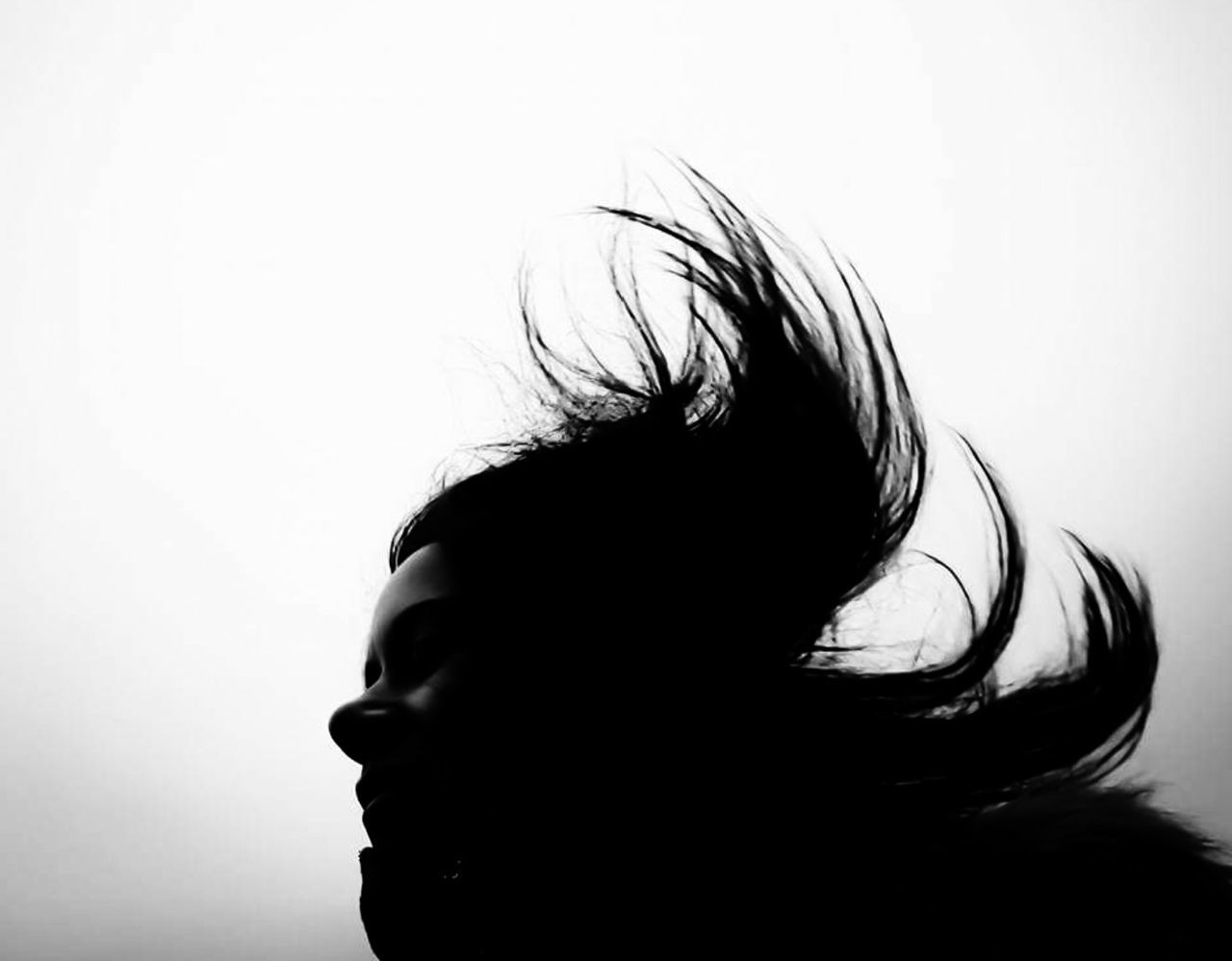 Hair Windy Day Windy Windyhair Human Hair One Person Headshot Adult One Woman Only Women Close-up Tangled Hair White Background Eyeem Market Eyeemphotography EyeEm Best Shots - Black + White EyeEm Bnw EyeEm Best Shots Shadows & Lights Shadow Play Profile Shadow-art Portrait Light And Shadow Silhouette Photography