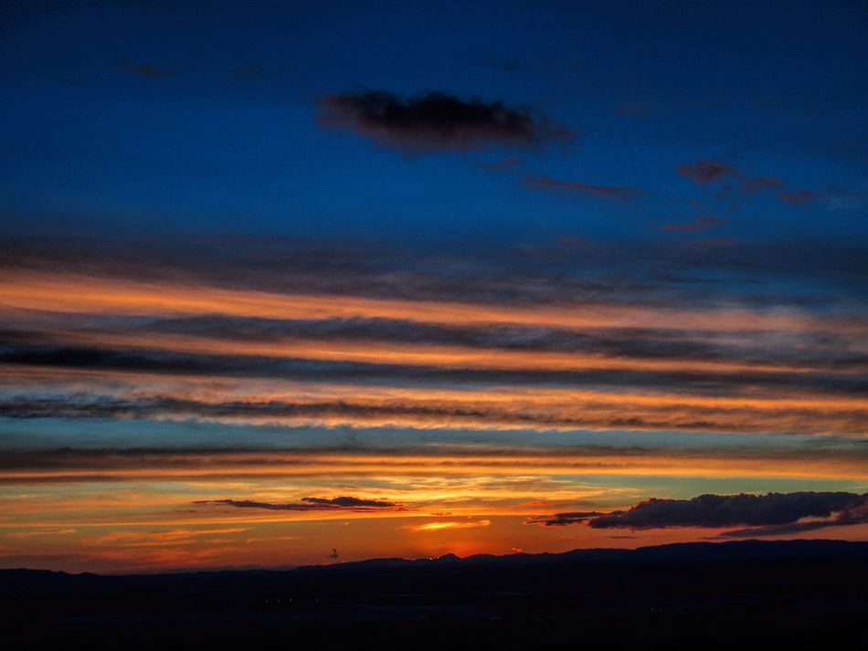 Explosion of colors in the sunset of Ullastrell - Catalunya_2 Beauty In Nature Blue Sky Cloud - Sky Nature No People Orange Orange Sky Outdoors Scenics Sky Sunset Tranquil Scene Tranquility