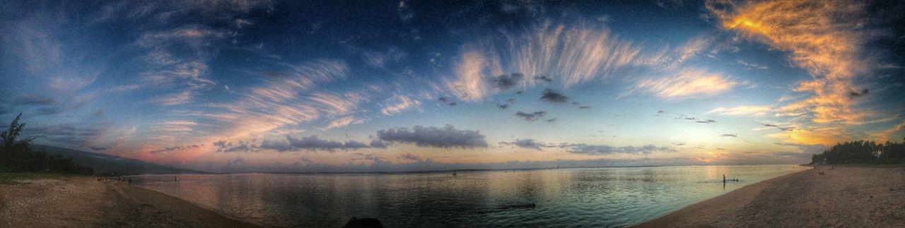 Sunset Sea Reunion Island Clouds de malade